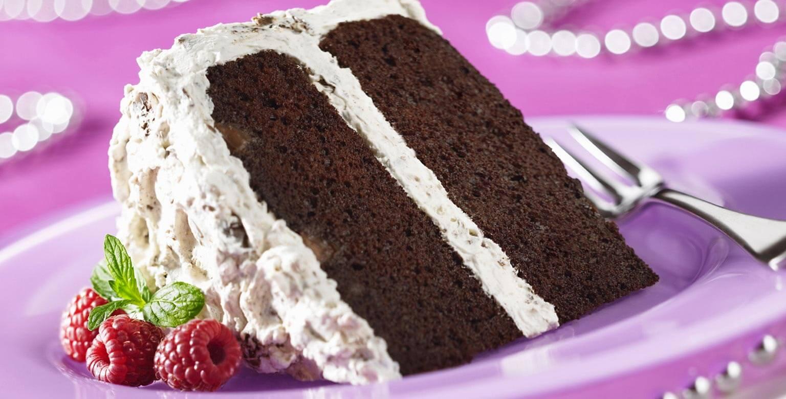 Voir la recette - Gâteau mousse double-chocolat