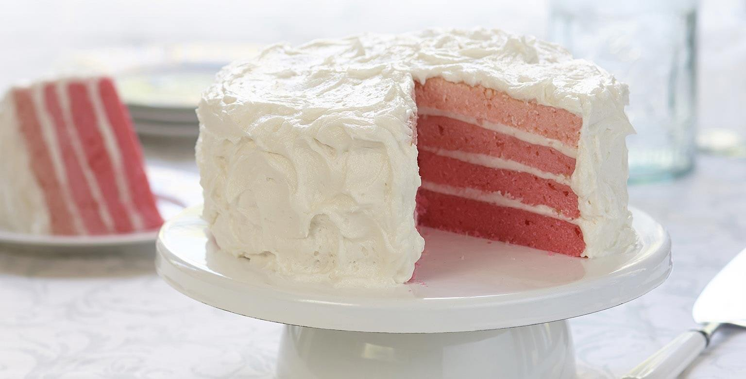 Voir la recette - Gâteau ombré