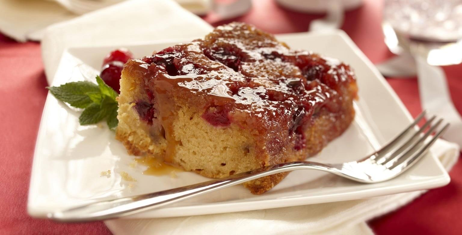 Voir la recette - Gâteau renversé aux canneberges