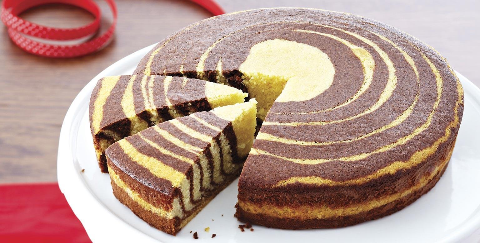 Voir la recette - Gâteau zébré
