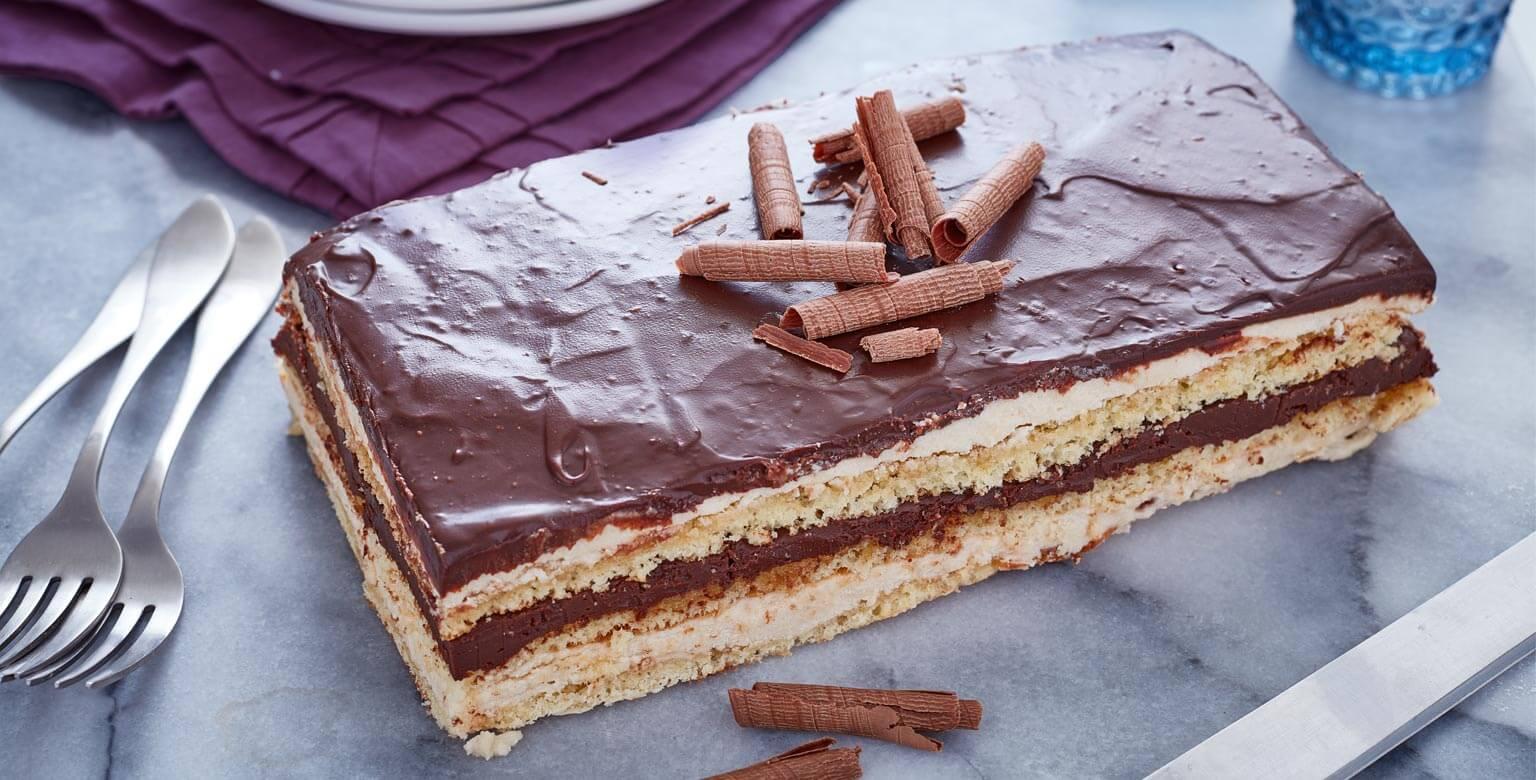 Voir la recette - Gâteau opéra simple