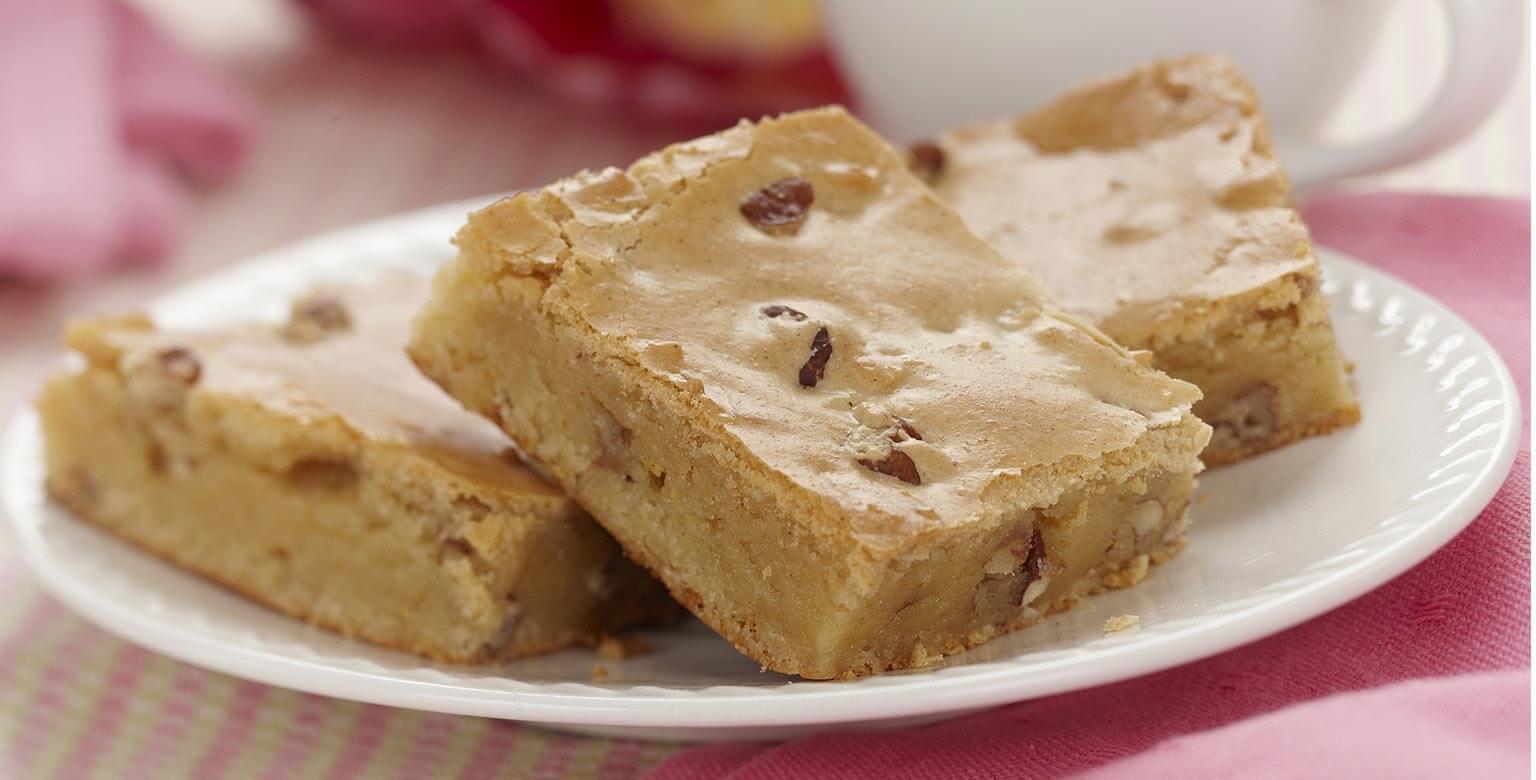 Voir la recette - Mini brownies au chocolat blanc