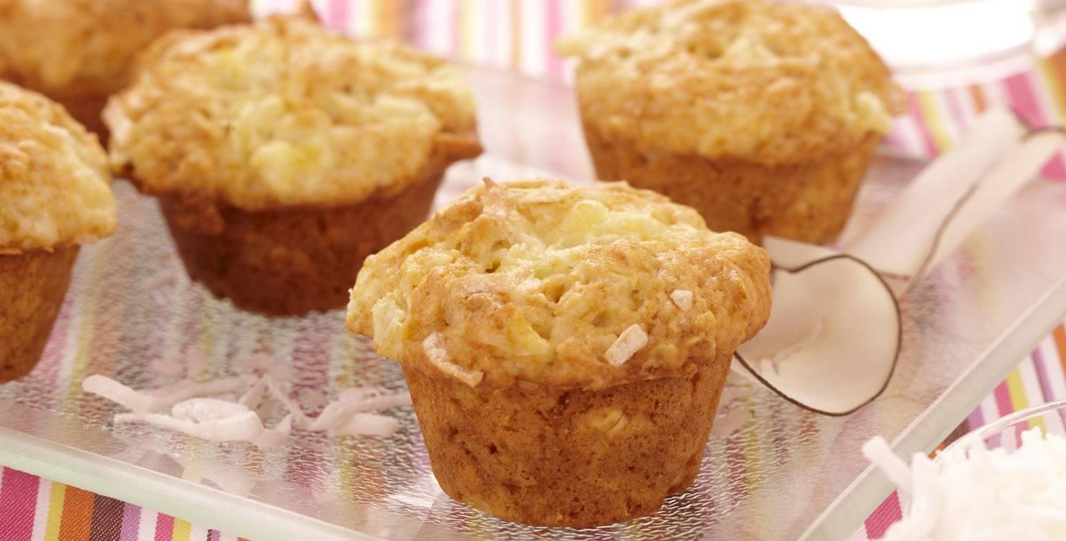 Voir la recette - Mini muffins à la noix de coco et aux ananas