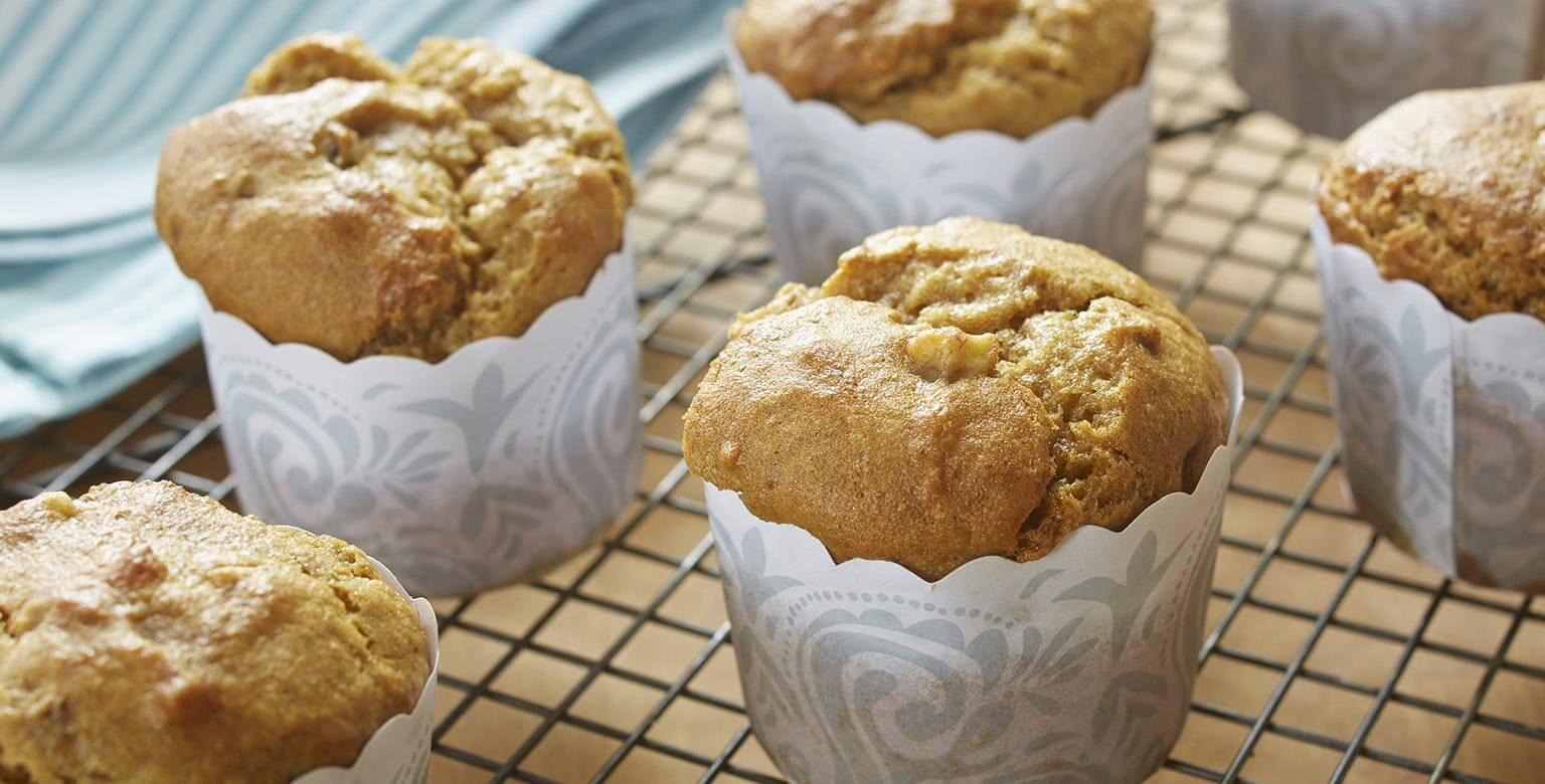 Voir la recette - Muffins au pain aux bananes sans gluten*