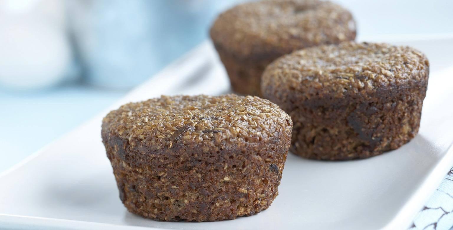 Voir la recette - Muffins au son et aux dattes
