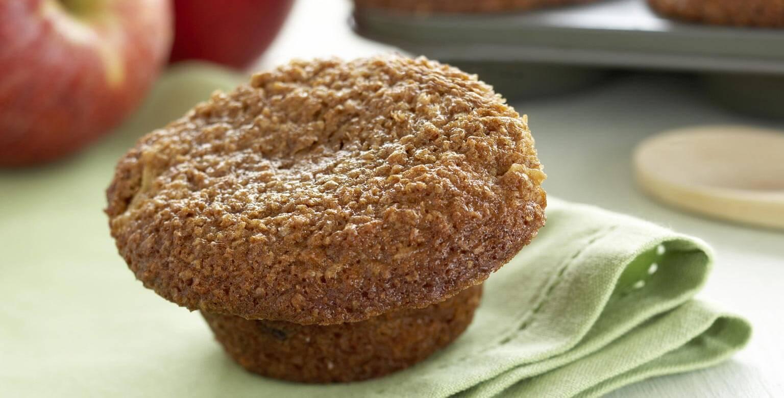 Voir la recette - Muffins au son et aux pommes
