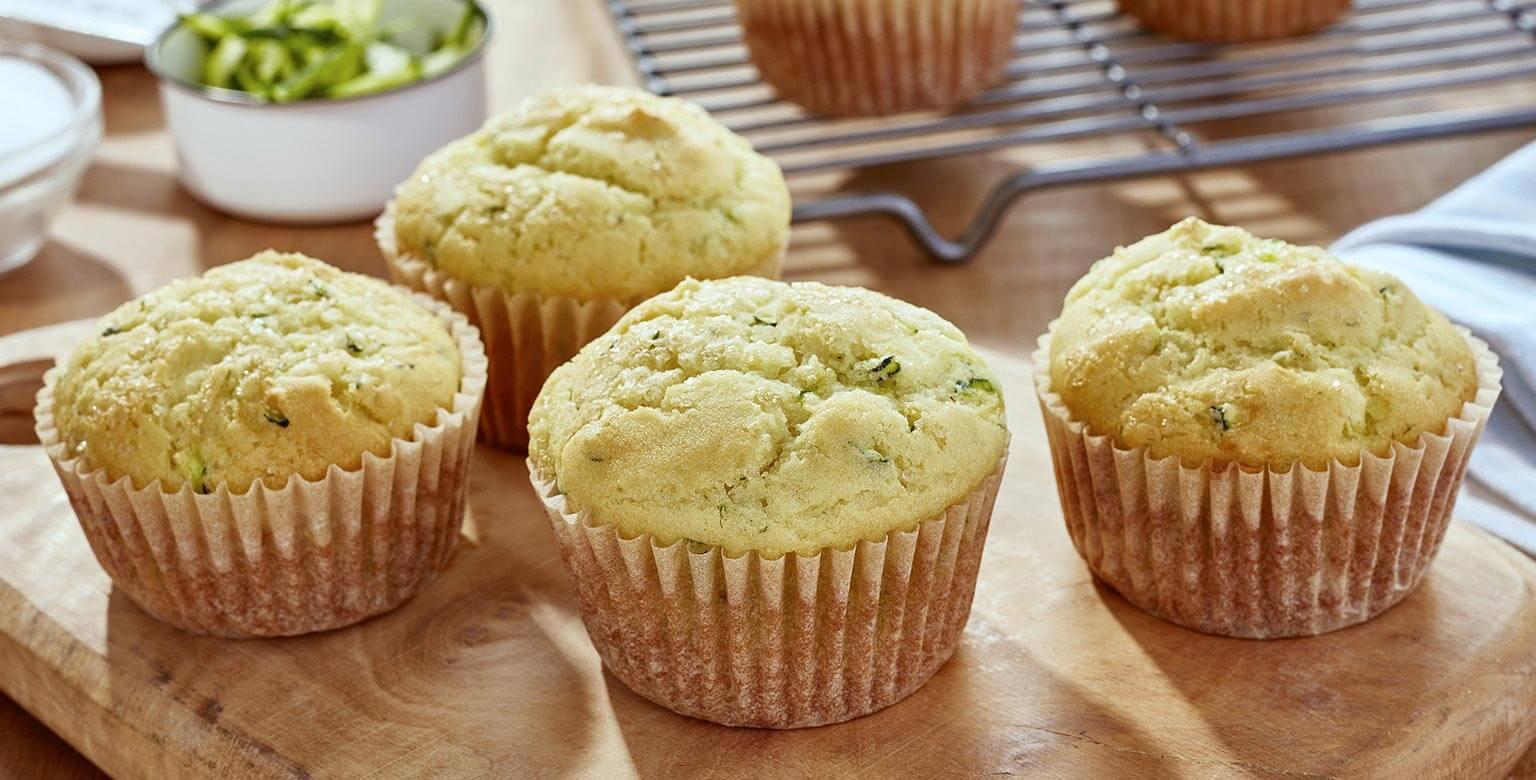 Voir la recette - Muffins aux courgettes et zeste*