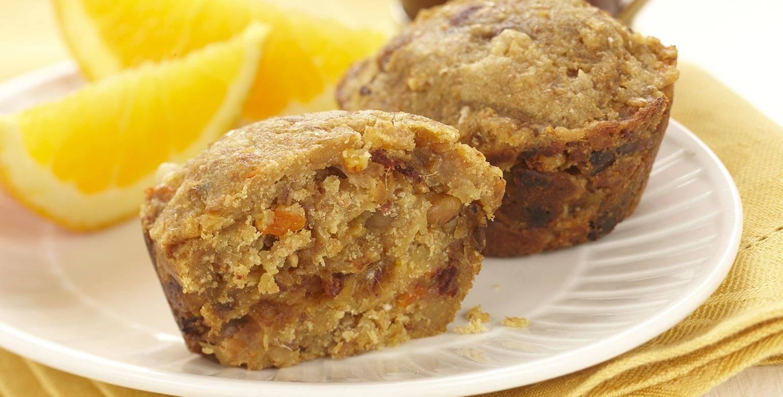 Voir la recette - Muffins aux dattes et à l'orange