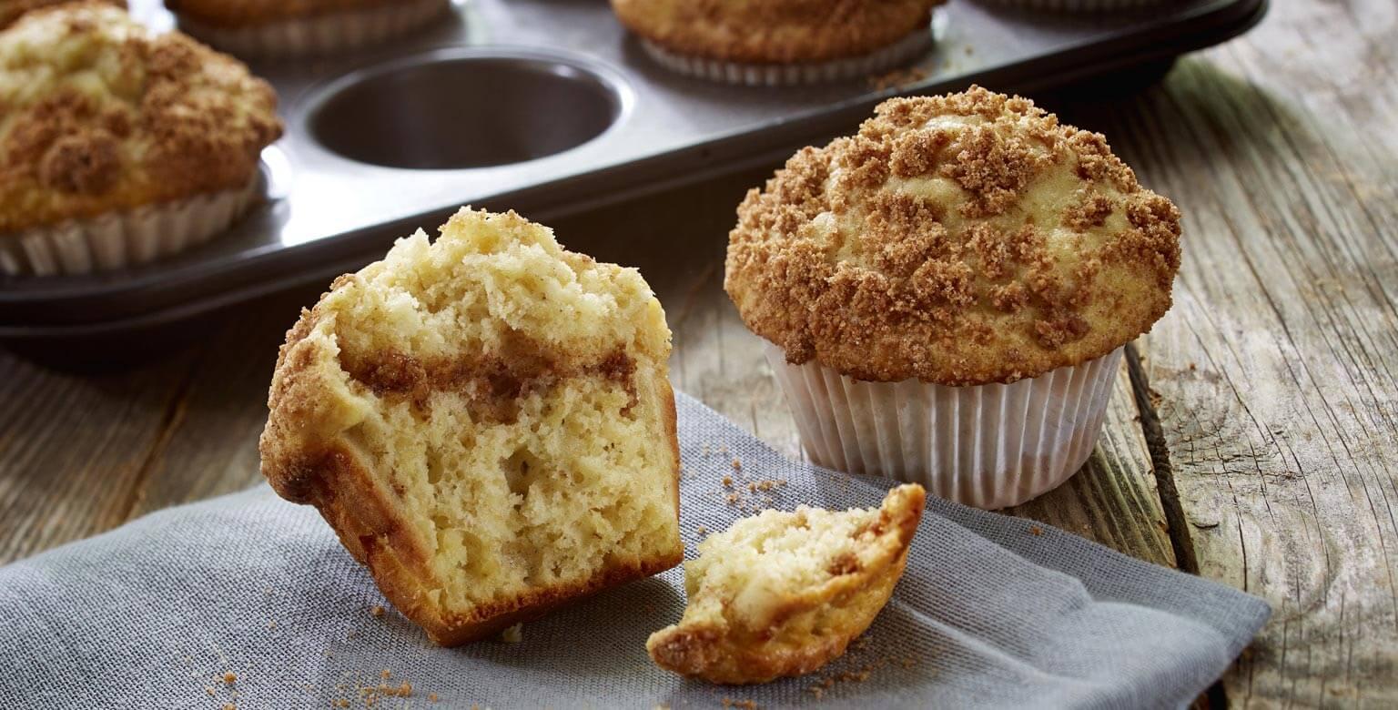 Voir la recette - Muffins aux flocons d'avoine et tourbillon de cannelle