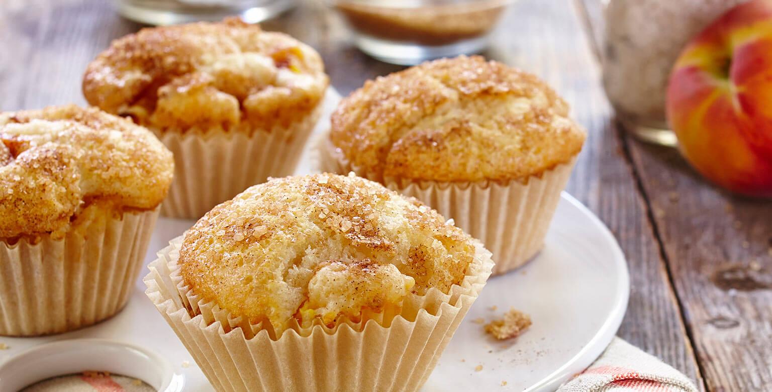 Voir la recette - Muffins aux pêches
