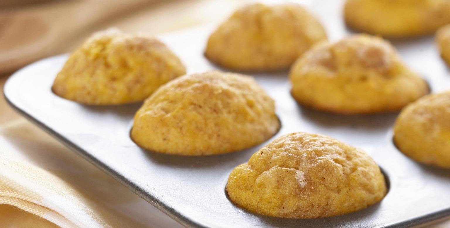 Voir la recette - Muffins miniatures à la citrouille