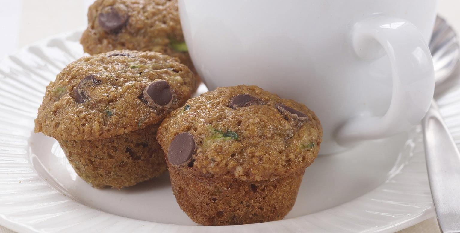 Voir la recette - Muffins miniatures aux courgettes