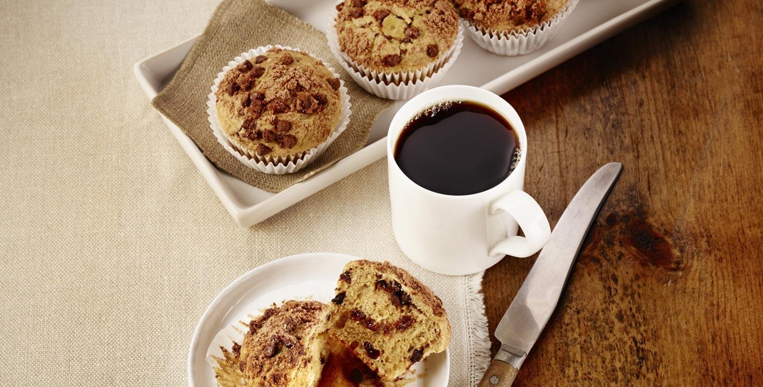 Voir la recette - Muffins tourbillon de chocolat et moka