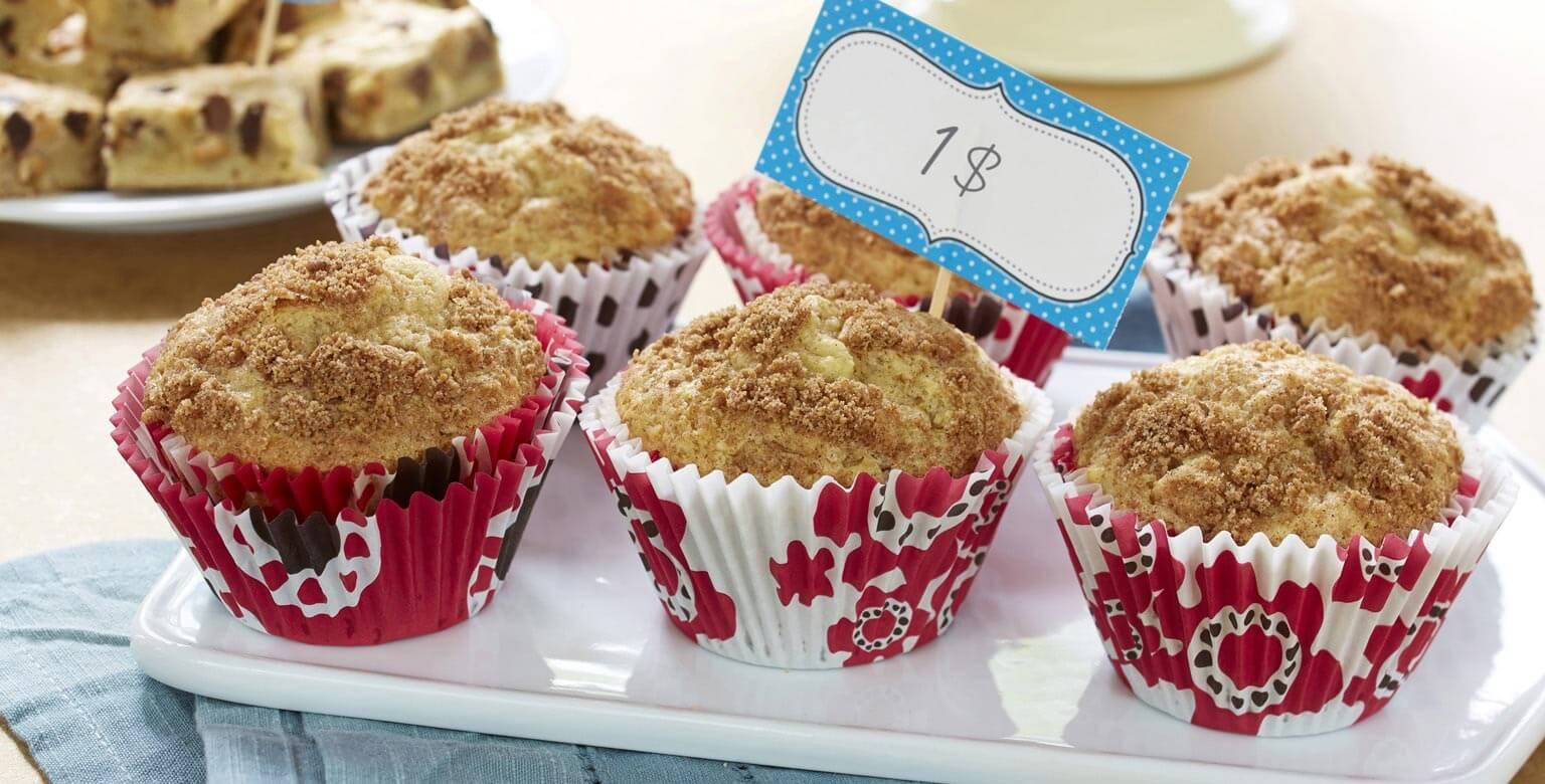 Voir la recette - Muffins tourbillon de pomme et cannelle