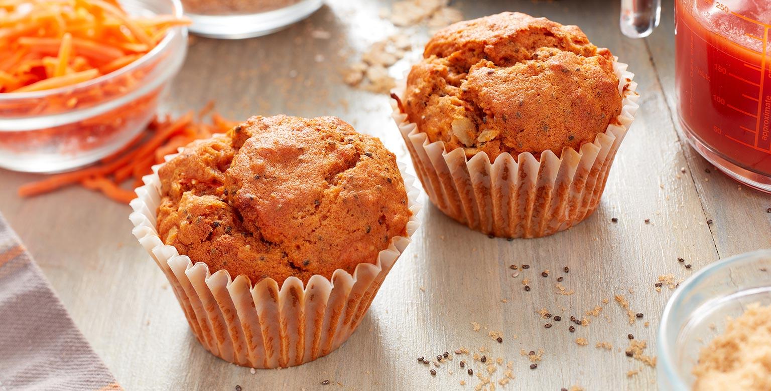 Voir la recette - Muffins végétaliens faits avec de  la farine biologique