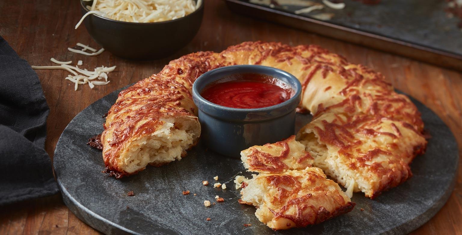 Voir la recette - Pain à l'ail et au fromage à partager