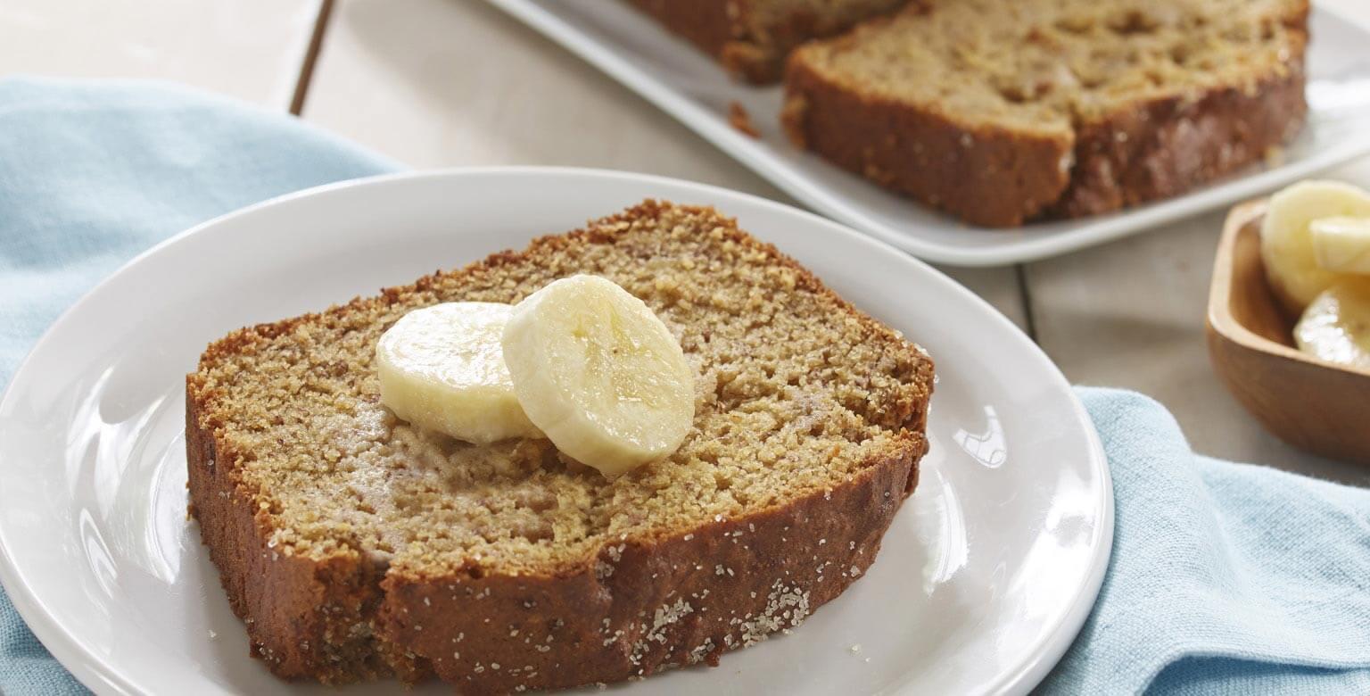 Voir la recette - Pain au bananes sans gluten