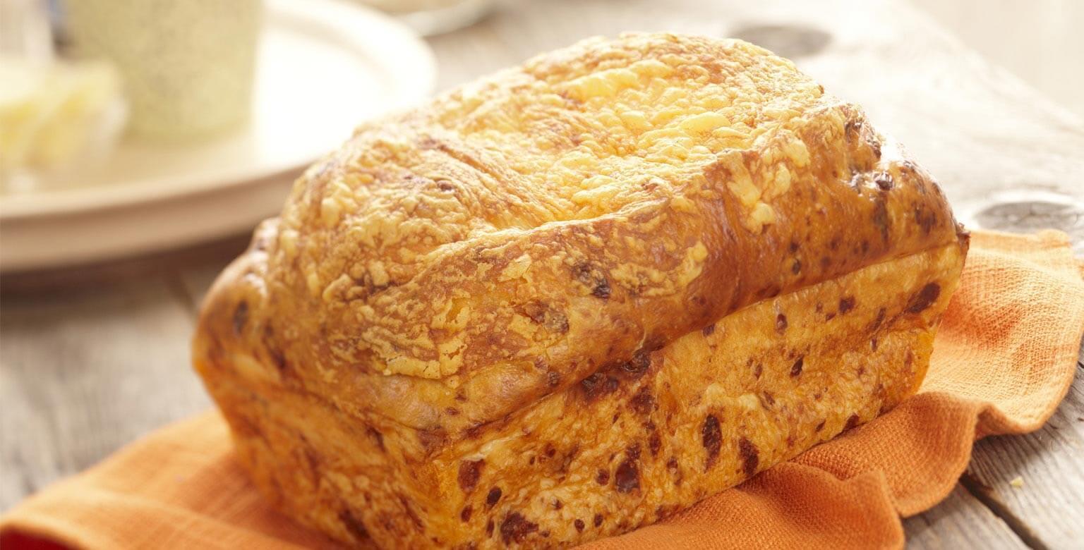 Voir la recette - Pain au fromage et à l'oignon