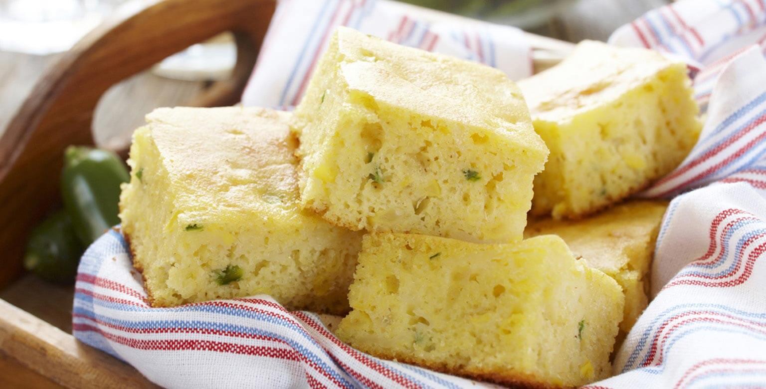 Voir la recette - Pain au maïs épicé