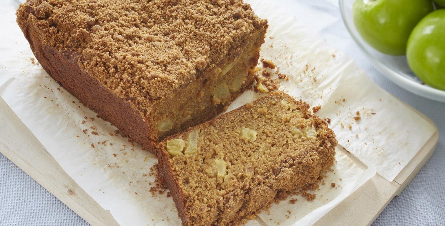Voir la recette - Pain pommes et cannelle sans gluten*