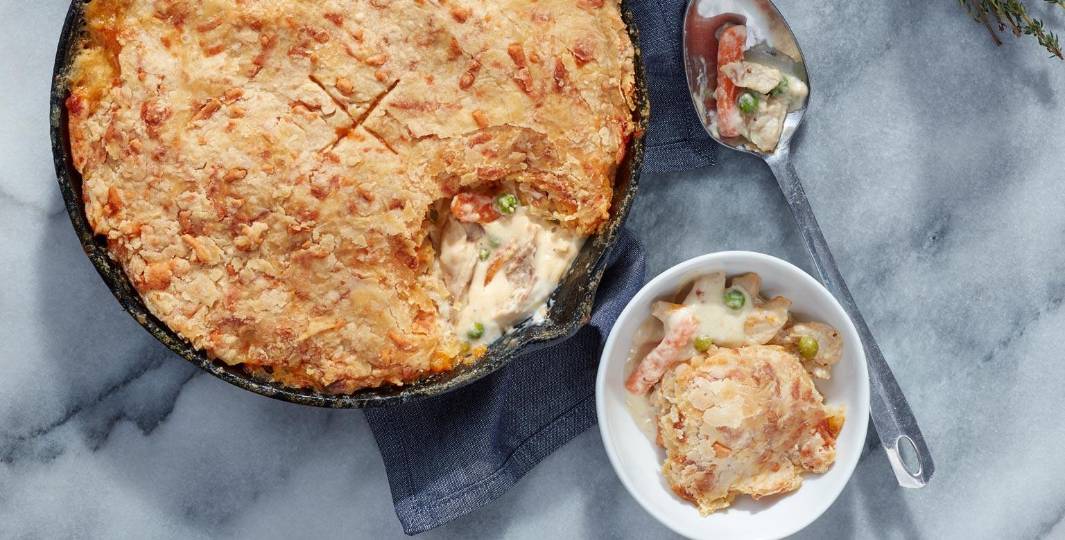 Voir la recette - Pâté au poulet au cheddar