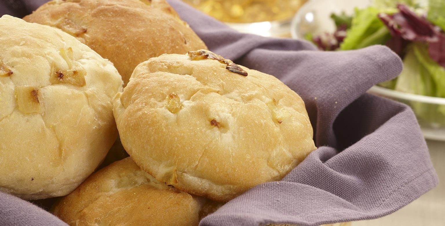 Voir la recette - Petits pains à l'oignon
