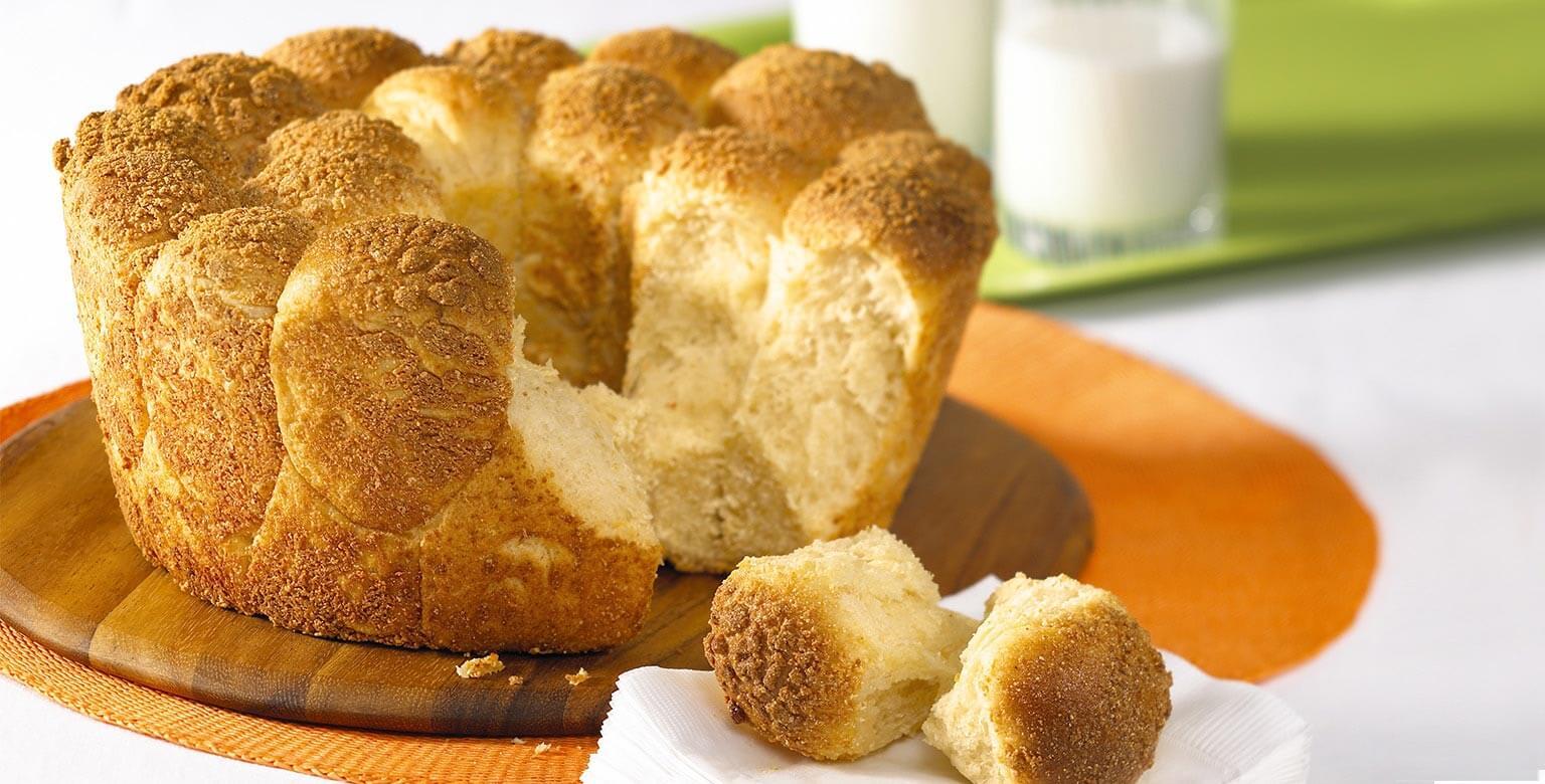 Voir la recette - Petits pains au fromage