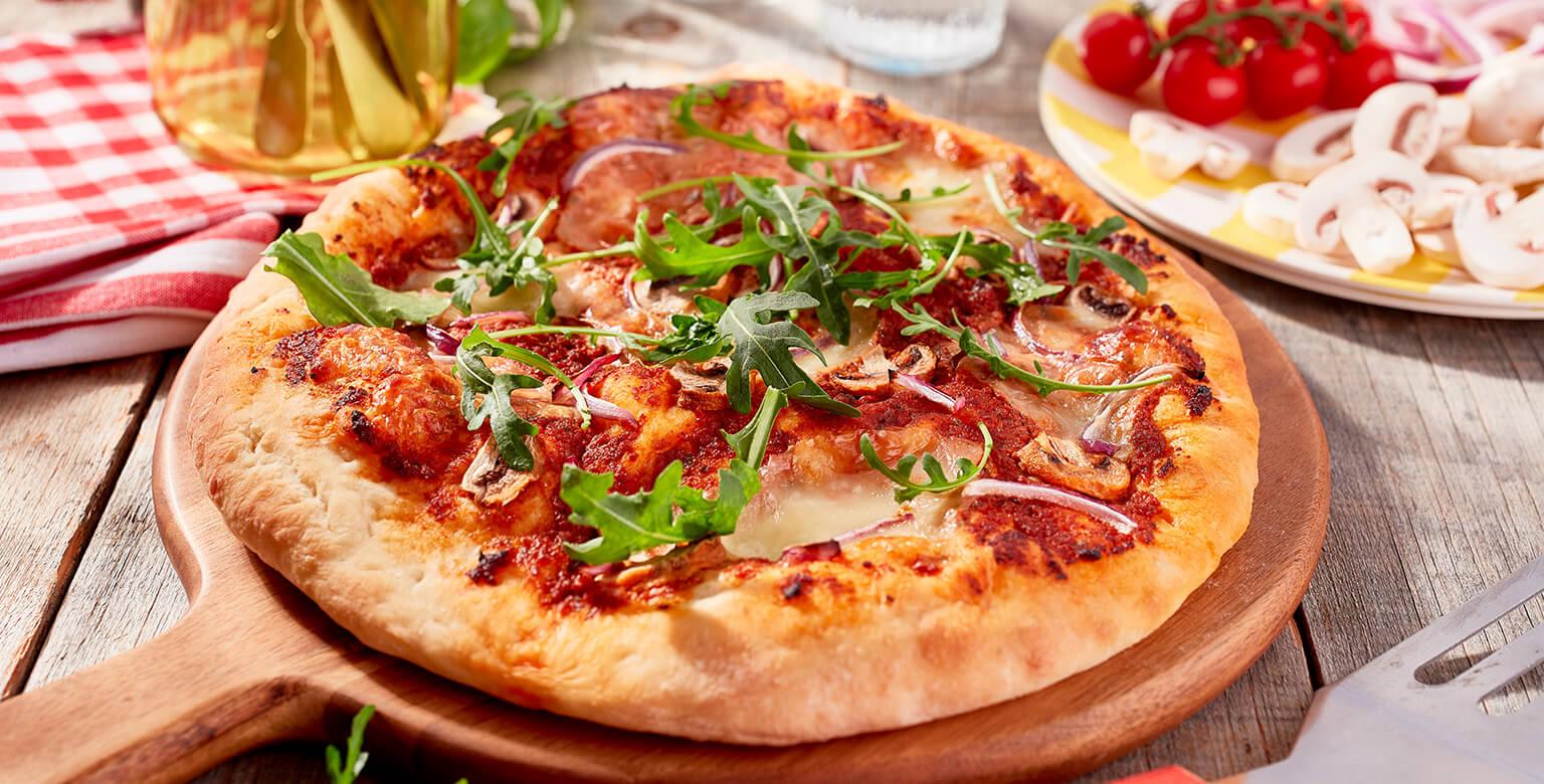 Voir la recette - Pizza aux légumes frais sur le gril