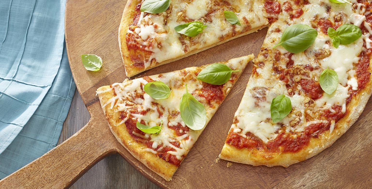 Voir la recette - Pizza margarita sans gluten*