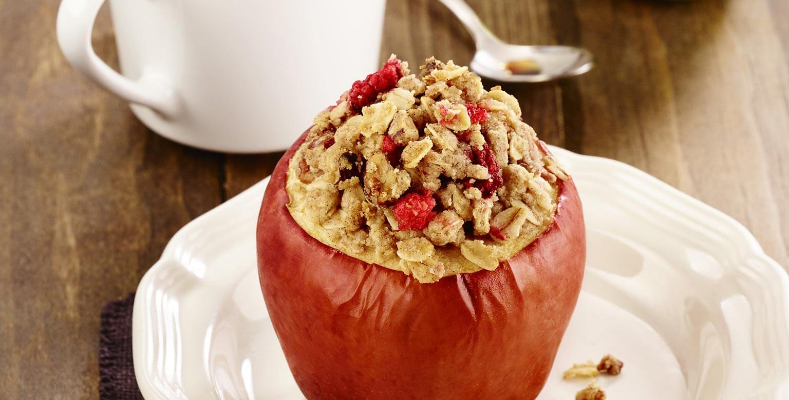 Voir la recette - Pommes croquantes farcies