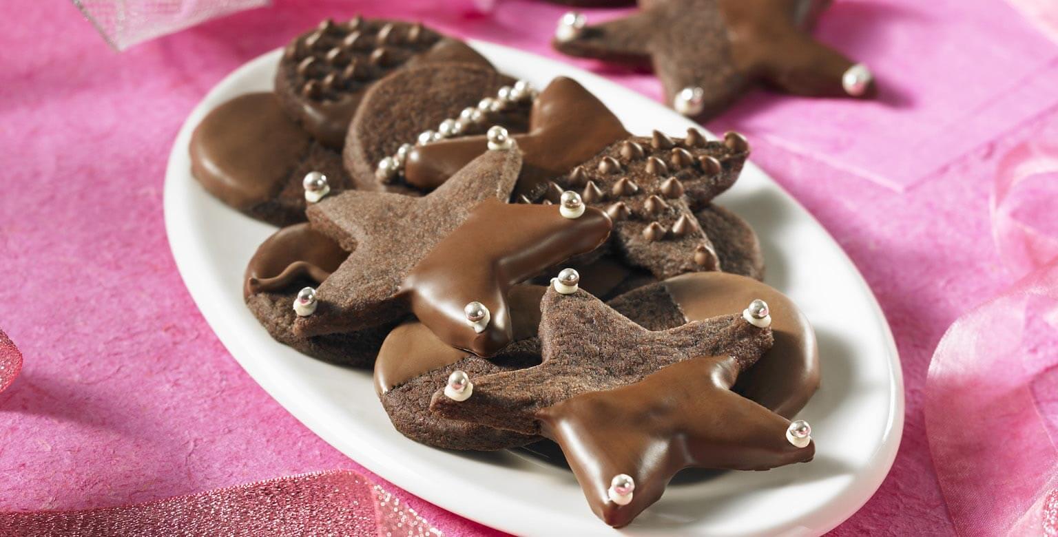 Voir la recette - Sablés glacés au chocolat