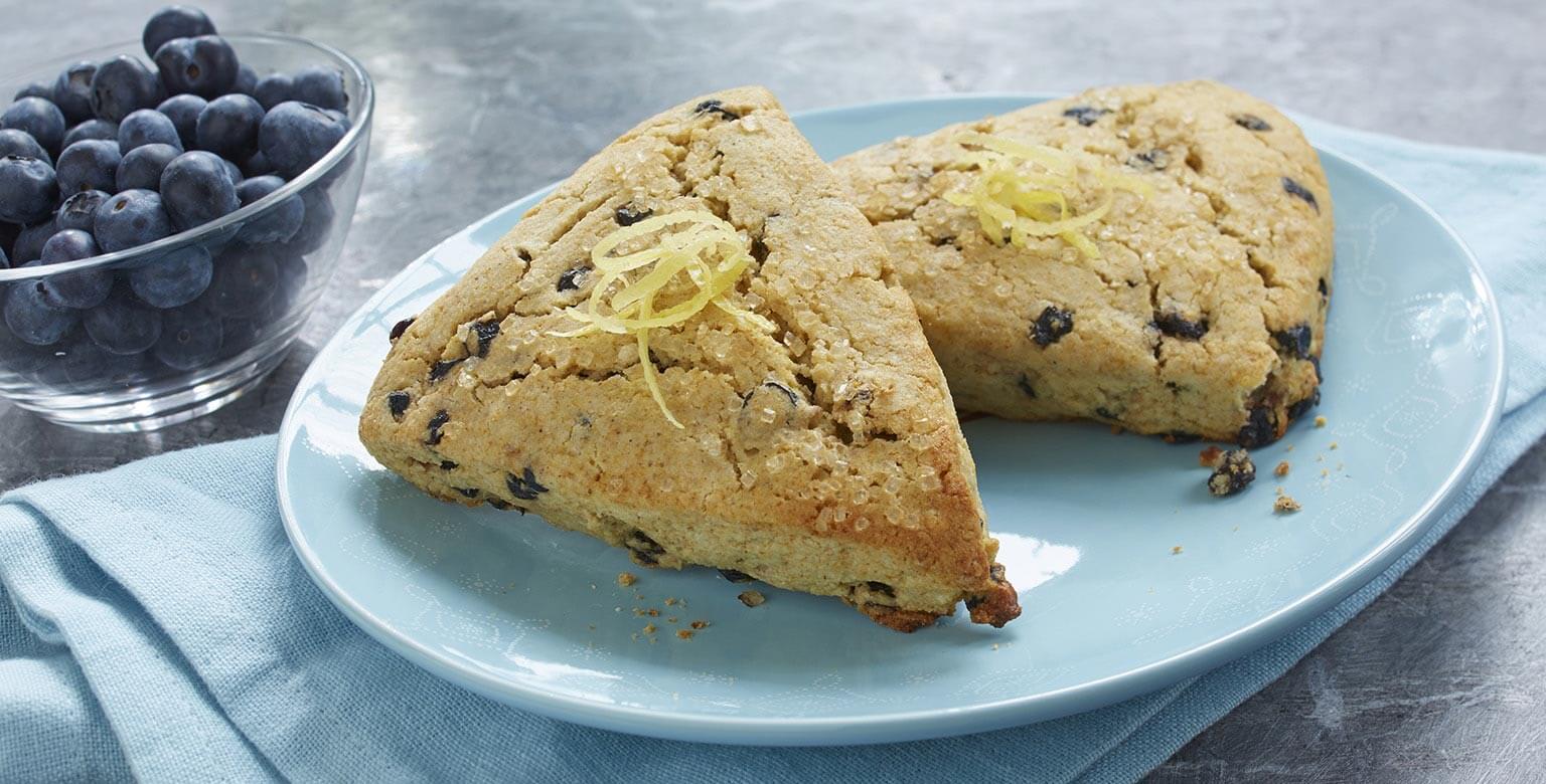 Voir la recette - Scones au citron et bleuets sans gluten