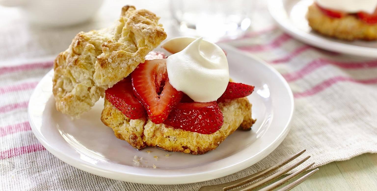 Voir la recette - Shortcake aux fraises à l'ancienne
