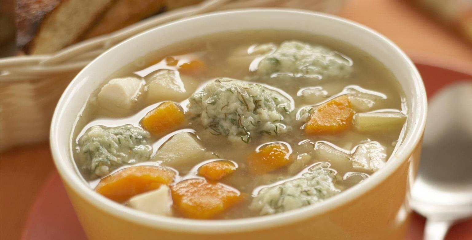 Voir la recette - Soupe au poulet et ses quenelles à l'aneth