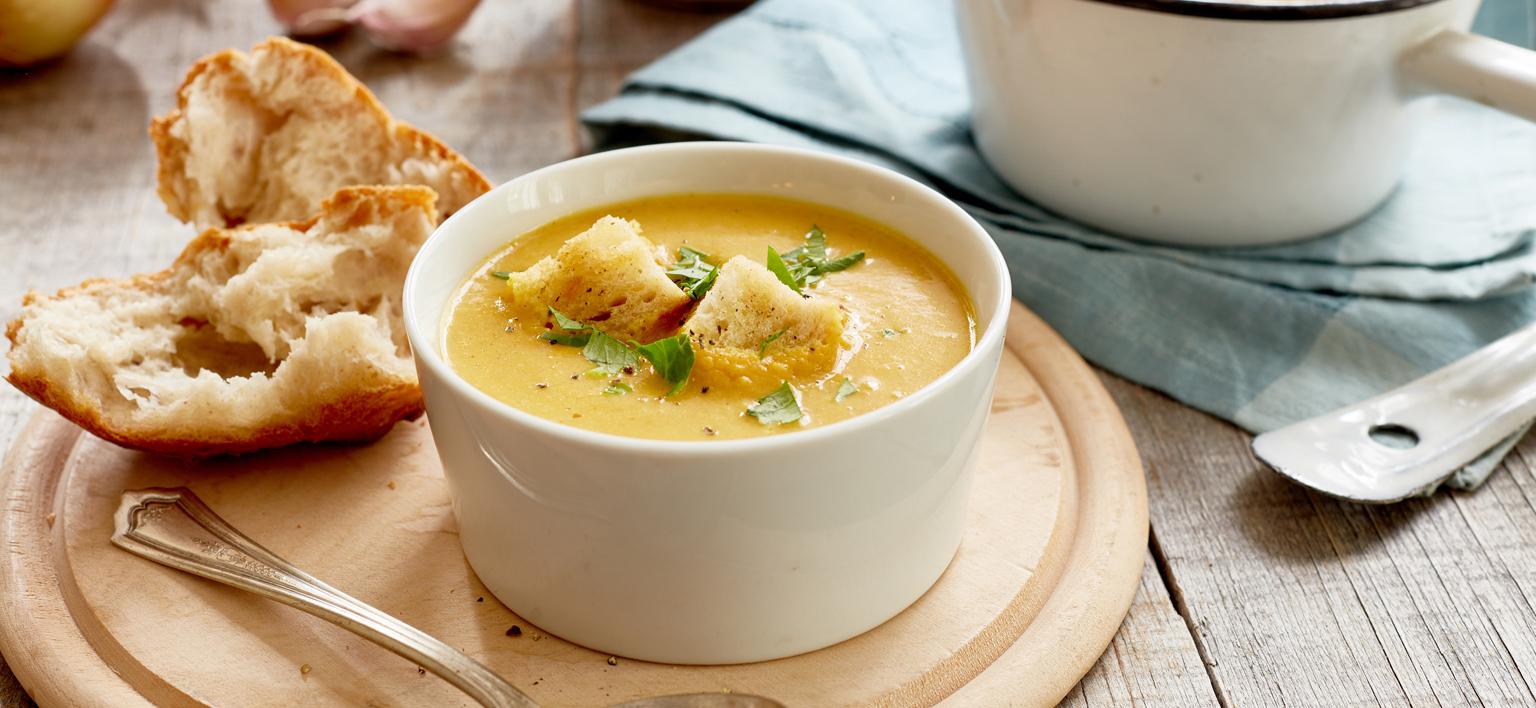 Voir la recette - Soupe aux pommes et courges