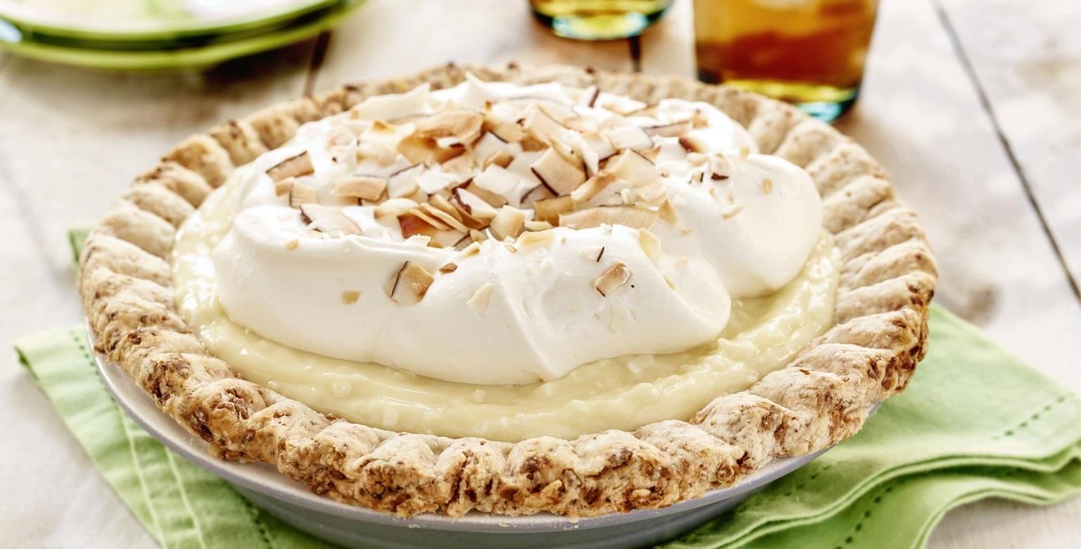 Voir la recette - Tarte à la crème à la noix de coco