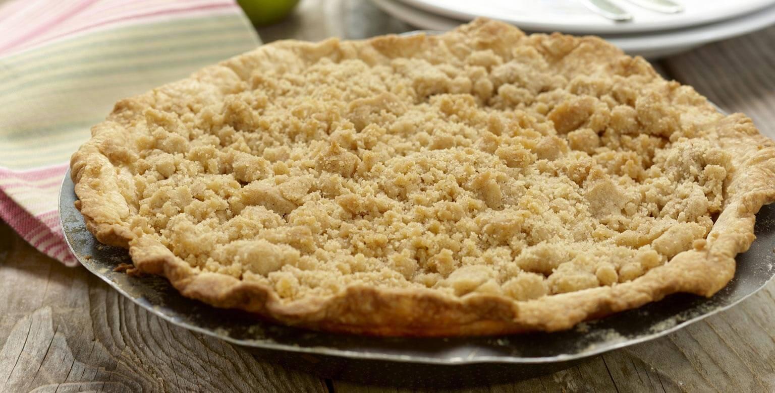 Voir la recette - Tarte aux pommes à la crème anglaise
