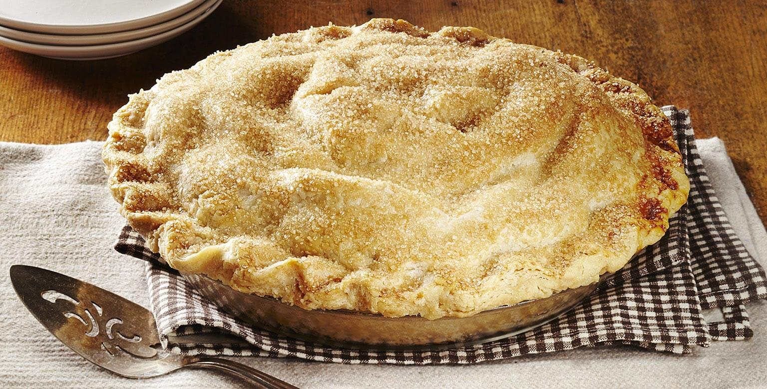 Voir la recette - Tarte aux pommes d'autrefois