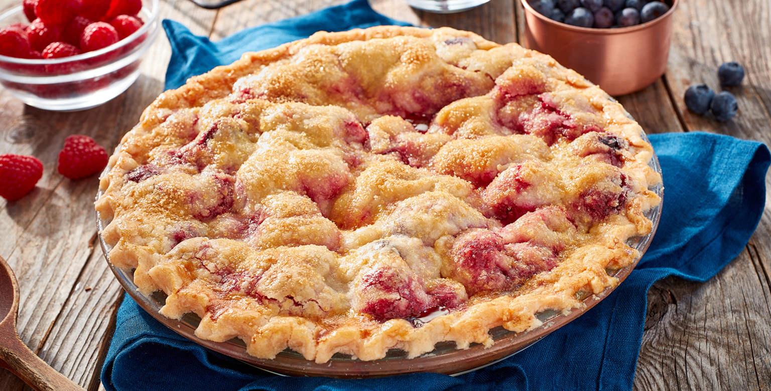 Voir la recette - Tarte aux trois petits fruits sans gluten*