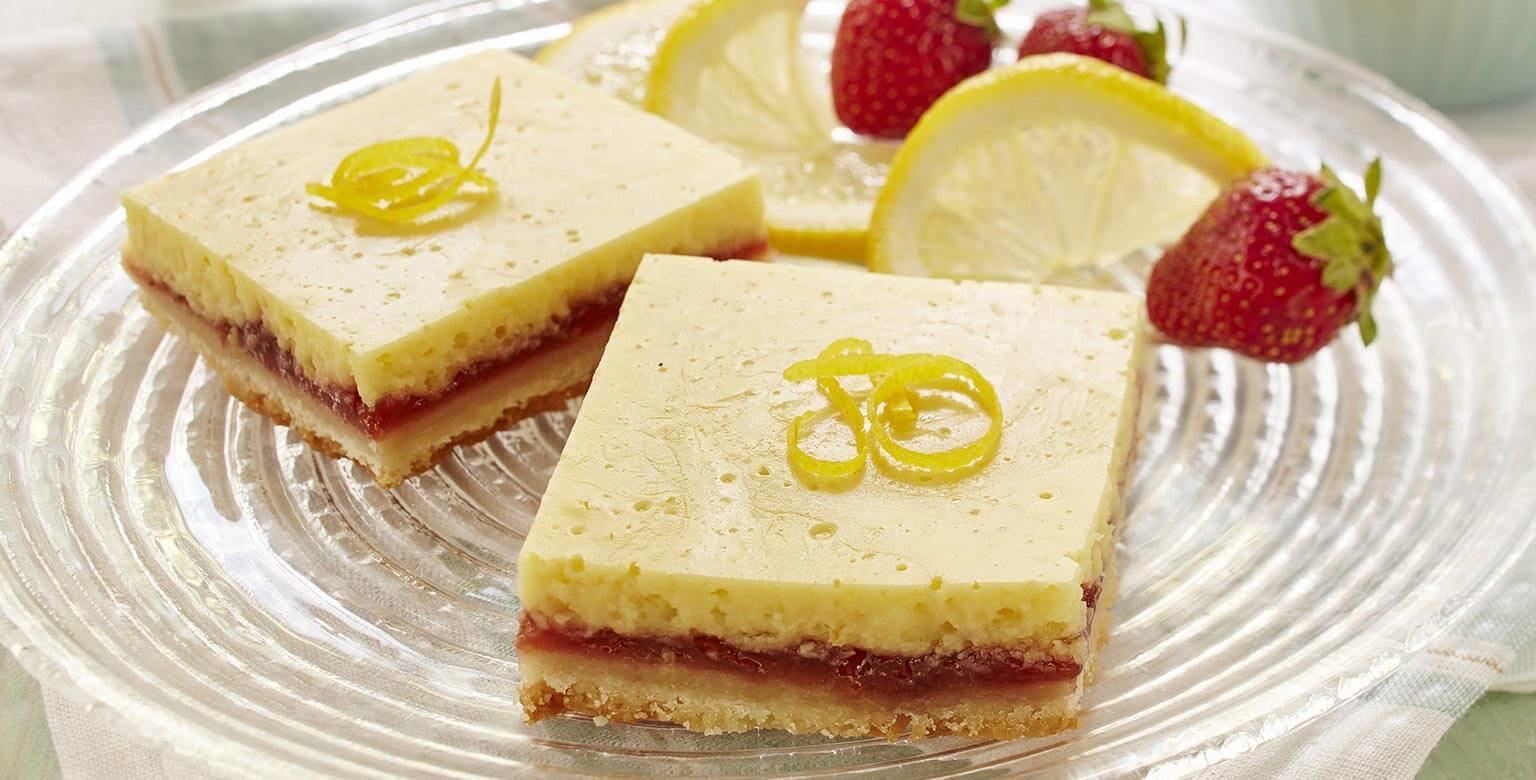Voir la recette - Tranches aux fraises et au citron