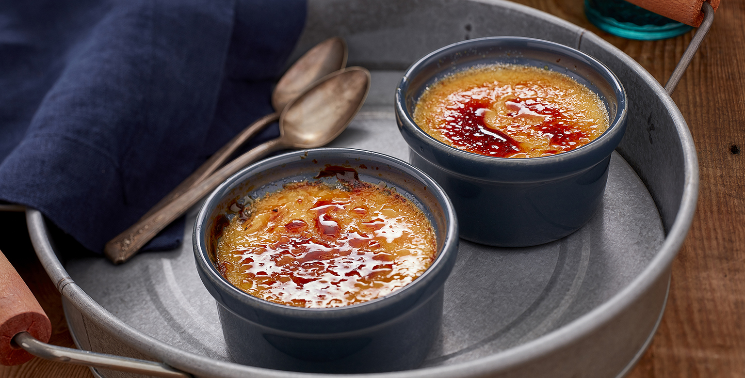 Voir la recette - Crème brûlée crémeuse facile