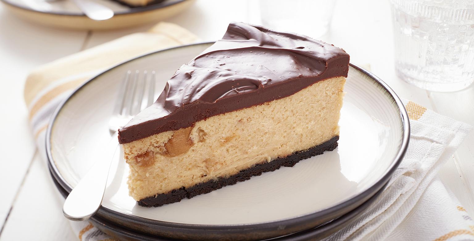 Voir la recette - Gâteau au fromage au chocolat et au beurre d'arachide