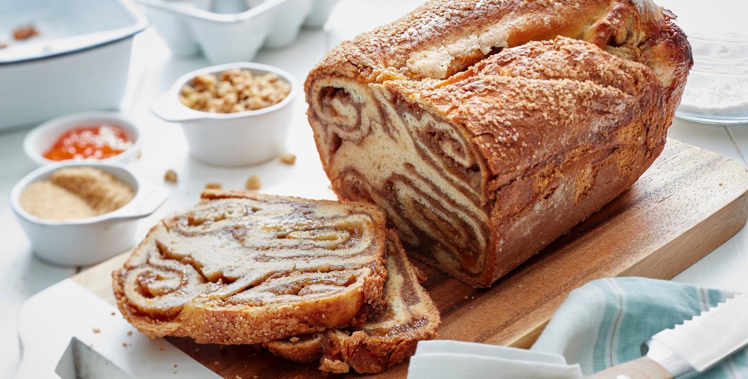 Voir la recette - Povitica aux abricots et aux noix