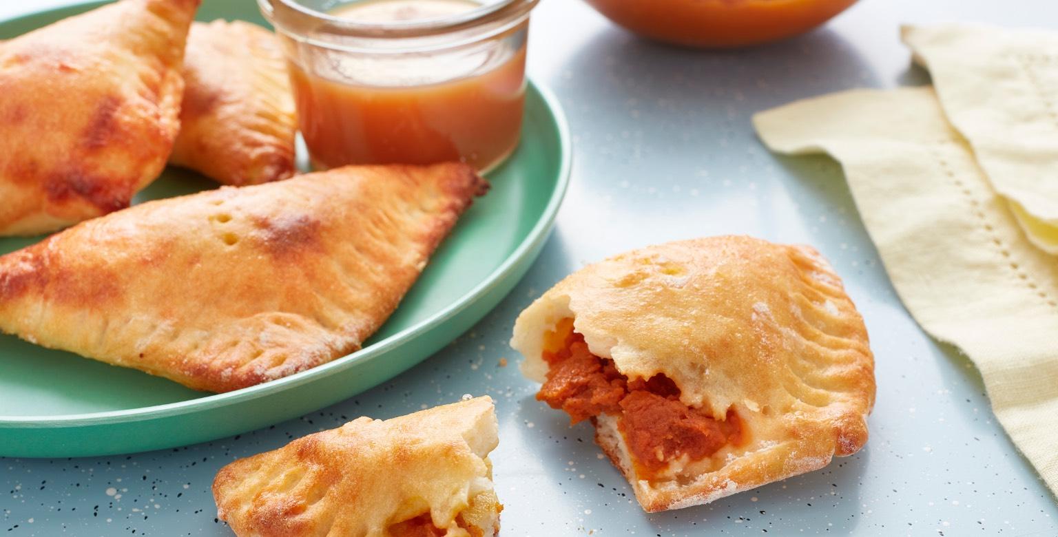 Voir la recette - Tartes miniatures à la citrouille — Pâte à deux ingrédients