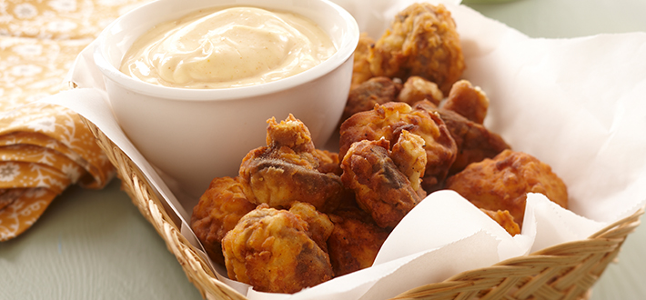 Crispy Fried Mushrooms with Chipotle Mayonnaise Dip
