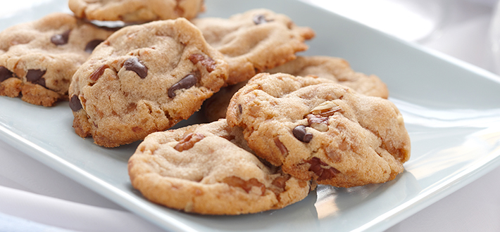 Butter Toffee Chocolate Chip Crunch Cookies