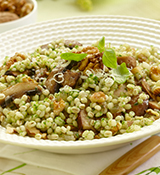 Barley & Walnut Risotto with Basil Oil