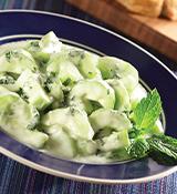 Balsamic Yogurt Cucumber Salad