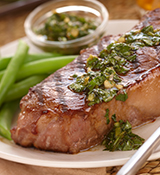 Asian Grilled Steaks with Spicy Herb Sauce