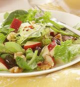Apple Autumn Salad with Creamy Maple Dip